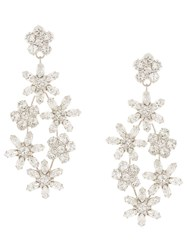 Jennifer Behr Embellished Flower Earrings Silver