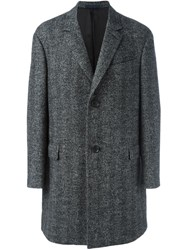 Lanvin Long Sleeved Overcoat Grey
