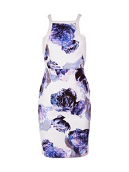 Finders Keepers Go All Night Floral Print Dress White Purple White Purple