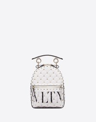 Valentino Garavani Mini Vltn Rockstud Spike.It Backpack White Lambskin 100