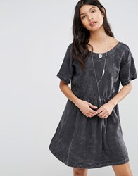 Pepe Jeans Lorette Marble Smock Dress 999Black Grey