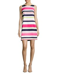 Vince Camuto Sleeveless Striped Dress Coral Multi