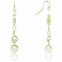 Orlando Orlandini Star 18K Gold Yellow Circles Earrings