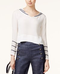 Tommy Hilfiger Tommyxgigi Silk Sailor Blouse Snow White
