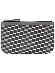 Pierre Hardy Cube Perspective Printed Clutch Black