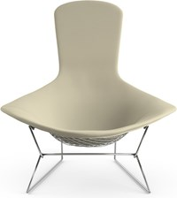 Knoll Bertoia Bird Lounge Chair K10211 Ultrasuede Sandstone Multicolor