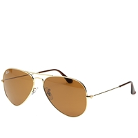 Ray Ban Ray Ban Aviator Sunglasses Gold And Brown