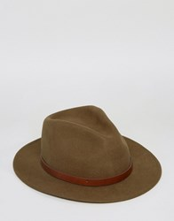 Brixton Messer Fedora Hat Green