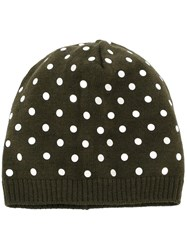 N 21 No21 Sequin Applique Beanie Green