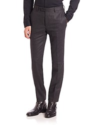 John Varvatos Austin Slim Fit Dress Pants Dark Heather