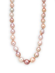 Tara Pearls 13Mm Pink Baroque Pearl And Sterling Silver Necklace