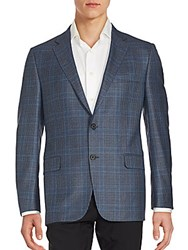 Hickey Freeman Two Button Front Jacket Light Blue