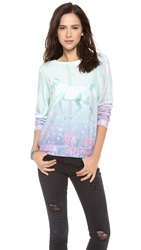 Wildfox Couture Garden Trot Baggy Pullover Multi