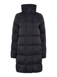 Gant Long Quilted Coat Black