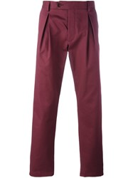 Al Duca D'aosta 1902 Pleat Detail Chino Trousers Red