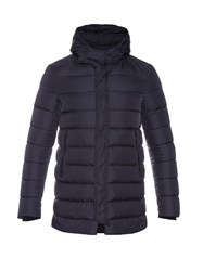 Herno Waterproof Quilted Down Jacket Navy
