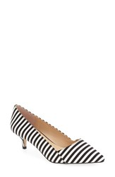 Sole Society Women's 'Desi' Pump Black White Classic Stripe