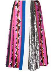 Emilio Pucci Patterned Pleated Mid Length Skirt