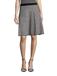 Saks Fifth Avenue Floral Printed Skirt Black White