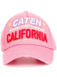 Dsquared2 Summer Tour California Baseball Cap Pink Purple