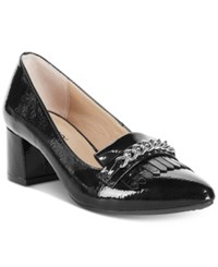 Rialto Marshall Block Heel Dress Pumps Women's Shoes Black