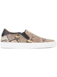 Givenchy Snakeskin Effect Sneakers