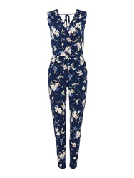 Therapy Floral Print Wrap Jumpsuit Multi Coloured