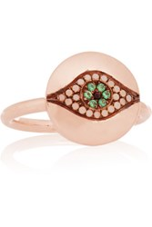Ileana Makri Iam By Little Dawn Rose Gold Plated Cubic Zirconia Ring
