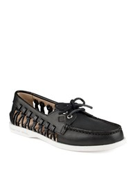 Sperry A O Haven Boat Shoes Black