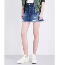 J Brand Bonny Distressed Denim Mini Skirt Hoxton
