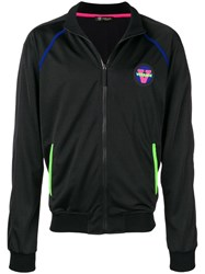 Versace Neon Piped Track Jacket Black