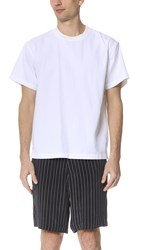 Steven Alan Burn Pull Over Shirt White