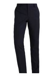 Burton Menswear London Dobby Suit Trousers Dark Blue