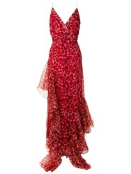 Isolda Amabile Long Dress Red