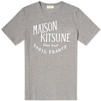 Maison Kitsune Palais Royal Tee Grey Melange And White