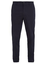 Acne Studios Ayan Satin Cotton Blend Chino Trousers Navy