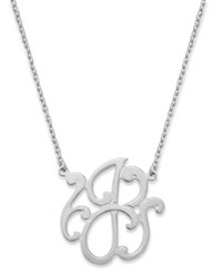 Giani Bernini Sterling Silver Necklace 'J' Initial Pendant Necklace