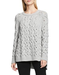 Vince Camuto Crewneck Chunky Cable Knit Sweater Grey