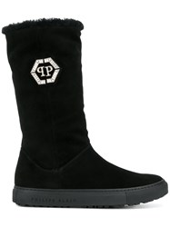 Philipp Plein Tall Boots Black