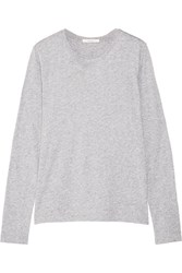 Adam By Adam Lippes Pima Cotton Jersey Top Gray