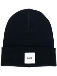 Oamc Beanie Hat With Patch Blue