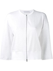 Fabiana Filippi Zipped Cardigan White