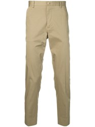 Dolce And Gabbana Side Stripe Trousers Brown