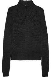 Rick Owens Ribbed Cotton Sweater Black