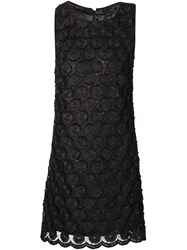 Plein Sud Jeans Plein Sud Sequin Lace Shift Dress Black