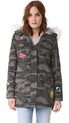 Jocelyn Grey Camo Cargo Coat Silver