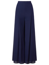 Jacques Vert Chiffon And Jersey Lined Trousers Dark Blue