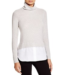 C By Bloomingdale's Turtleneck Shirttail Sweater