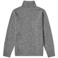 Universal Works Lambswool Fleck Roll Neck Knit Grey