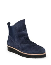 Patricia Green Charley Suede Round Toe Ankle Boots Navy Blue